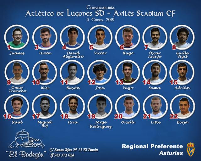 Convocatoria: Atlético de Lugones - Avilés Stadium