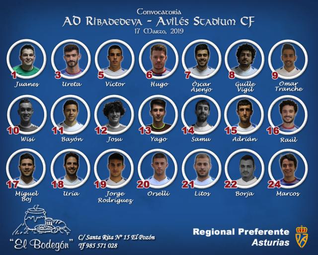Convocatoria: Ribadedeva - Avilés Stadium
