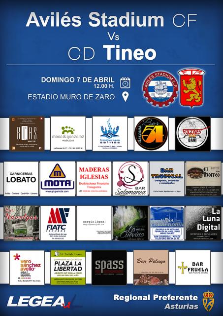 Cartel: Avilés Stadium - Tineo