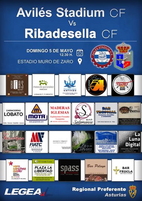 Cartel: Avilés Stadium - Ribadesella