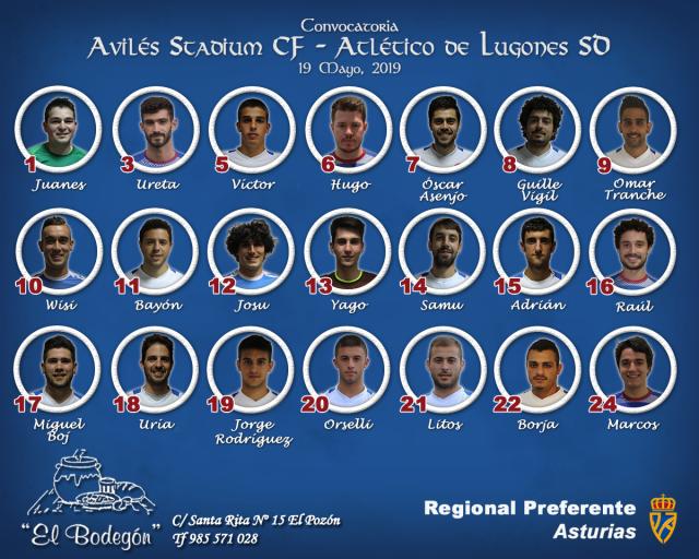 Convocatoria: Avilés Stadium - Atlético Lugones