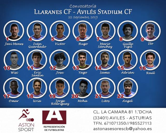 Convocatoria: Llaranes - Avilés Stadium