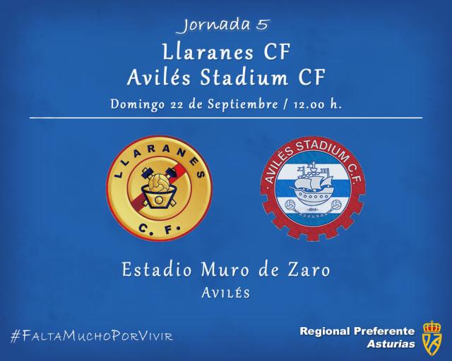 Horario: Llaranes - Avilés Stadium