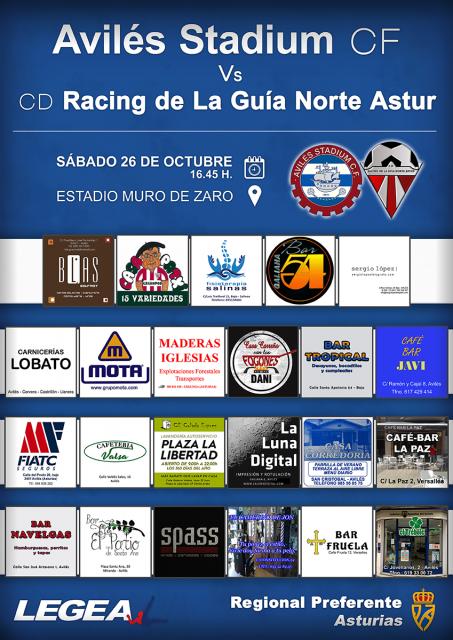 Cartel: Avilés Stadium - Racing de La Guía