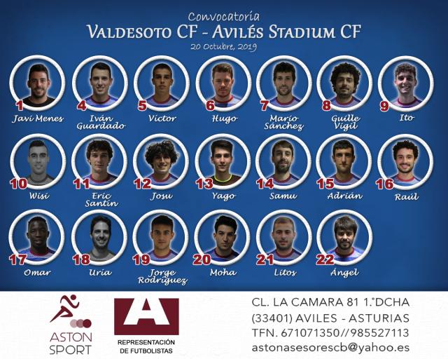 Convocatoria: Valdesoto - Avilés Stadium