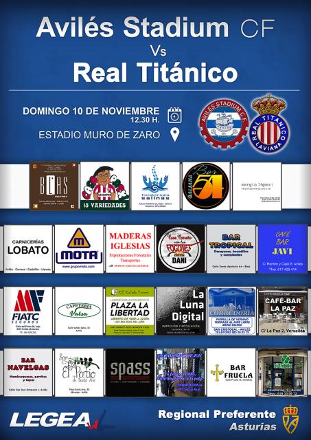 Cartel: Avilés Stadium - Real Titánico