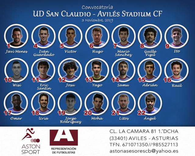 Convocatoria: San Claudio - Avilés Stadium