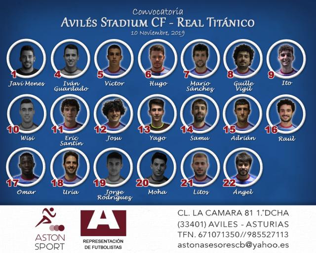 Convocatoria: Avilés Stadium - Real Titánico