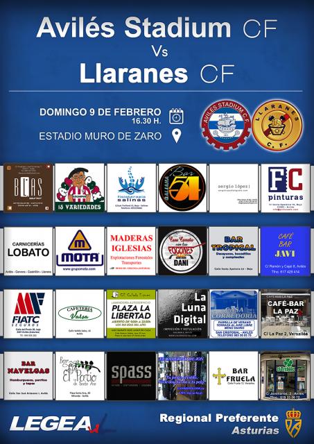 Cartel: Avilés Stadium - Llaranes