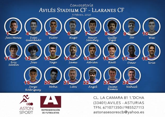 Convocatoria: Avilés Stadium - Llaranes