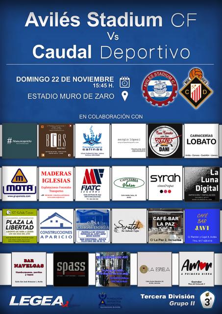 Cartel: Avilés Stadium - Caudal Deportivo