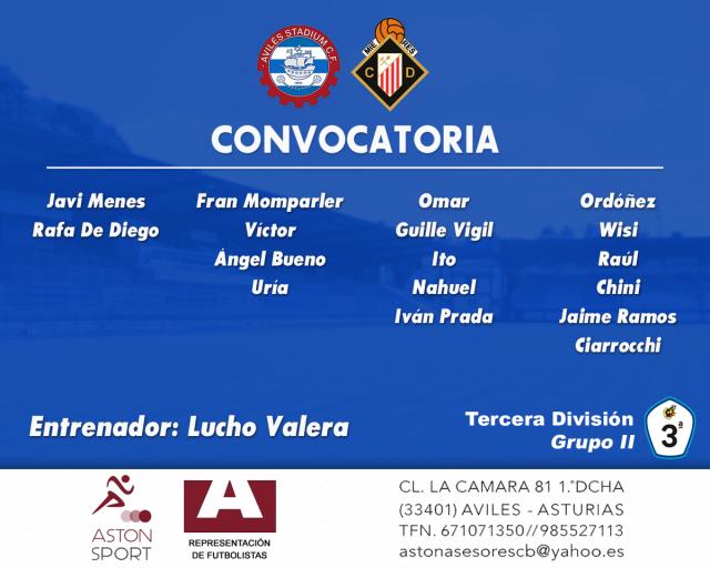 Convocatoria: Avilés Stadium - Caudal Deportivo